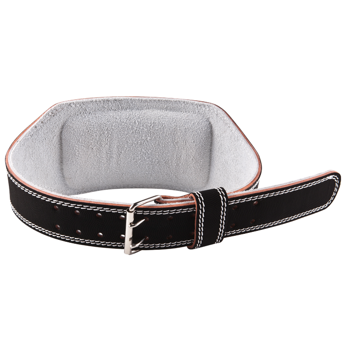 GoFit Padded Etched Leather Weightlifting Belt